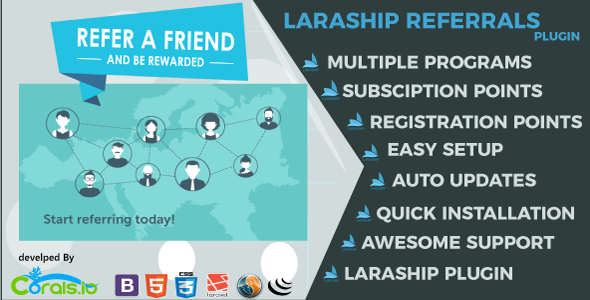 Laraship Referrals: Referral management for Laraship Platform - CodeCanyon Item for Sale