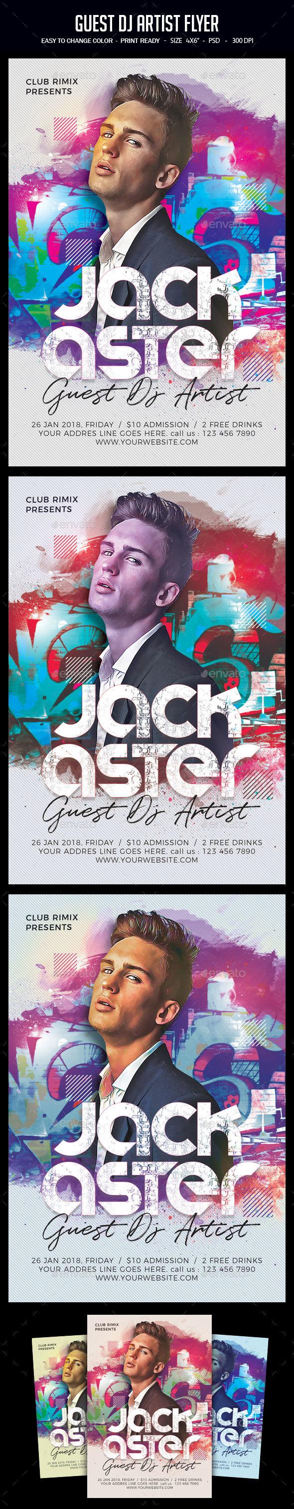 Guest DJ Artist Flyer - Clubs & Parties Events