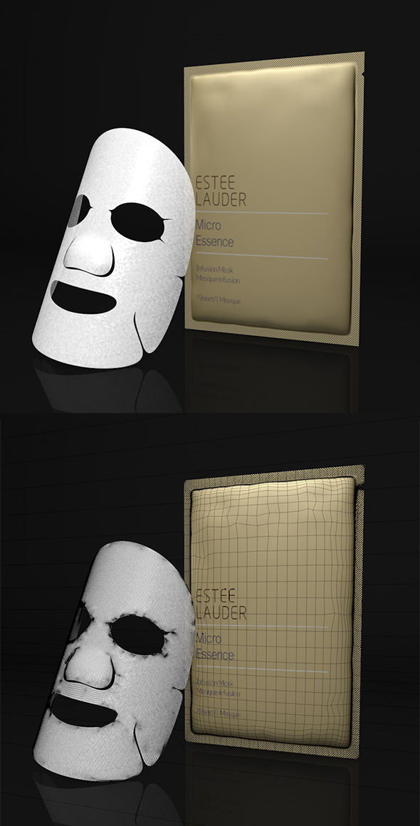 Facial mask 3d model - 3DOcean Item for Sale