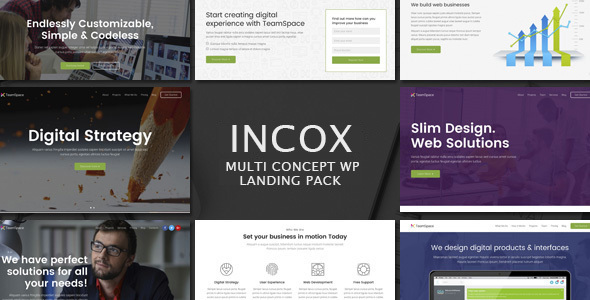 Incox - Multi-Concept Landing Pages WP Theme