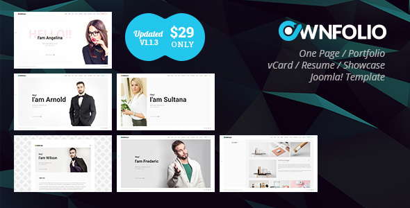 Image of OwnFolio - One Page Personal Portfolio Joomla Template