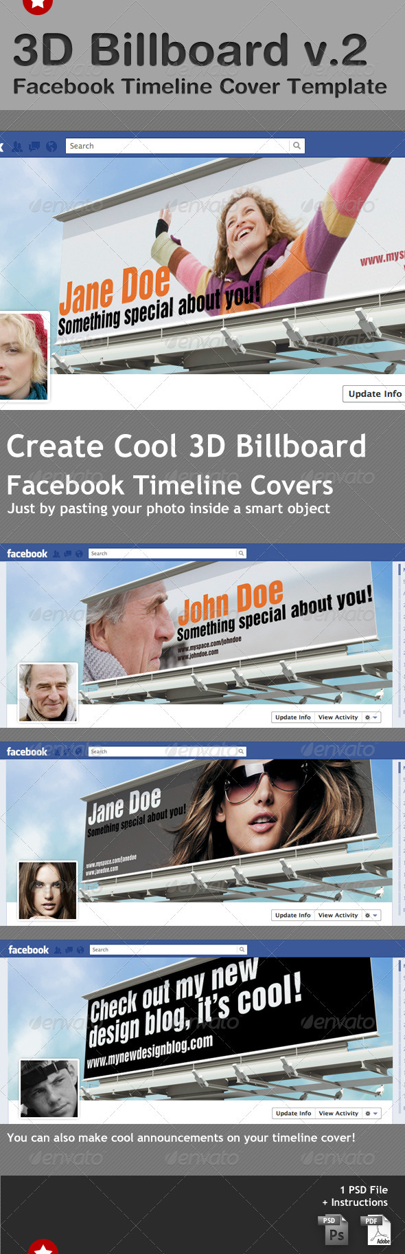 Billboard Facebook Timeline Cover Template - Facebook Timeline Covers Social Media