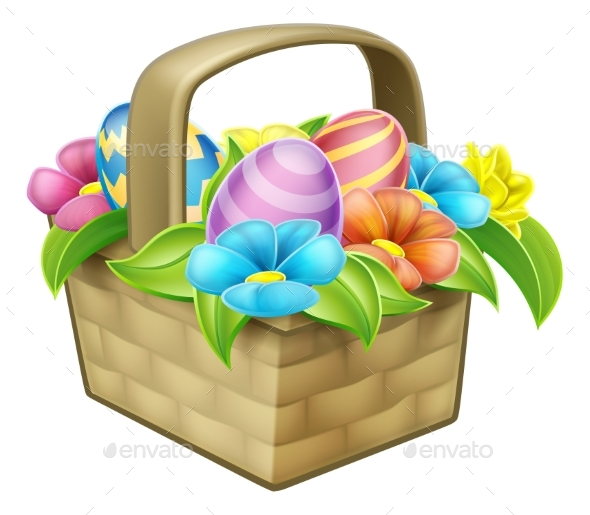 Easter Egg Hunt Basket Hamper - Miscellaneous Seasons/Holidays