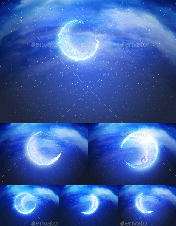Abstract Crescent Moon - Backgrounds Graphics