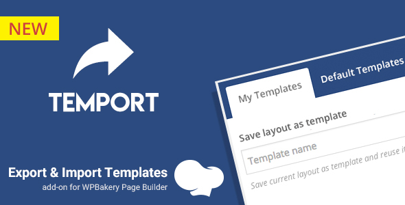 Export & Import Template for WPBakery Page Builder | Temport - CodeCanyon Item for Sale