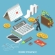 Personal Home Finance Flat Isometric Vector - GraphicRiver Item for Sale