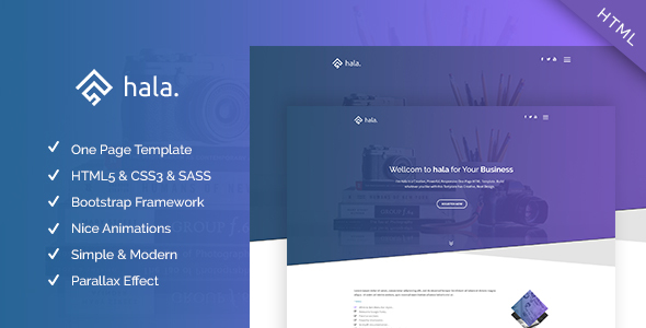 Hala - Multi-purpose Responsive One Page Template