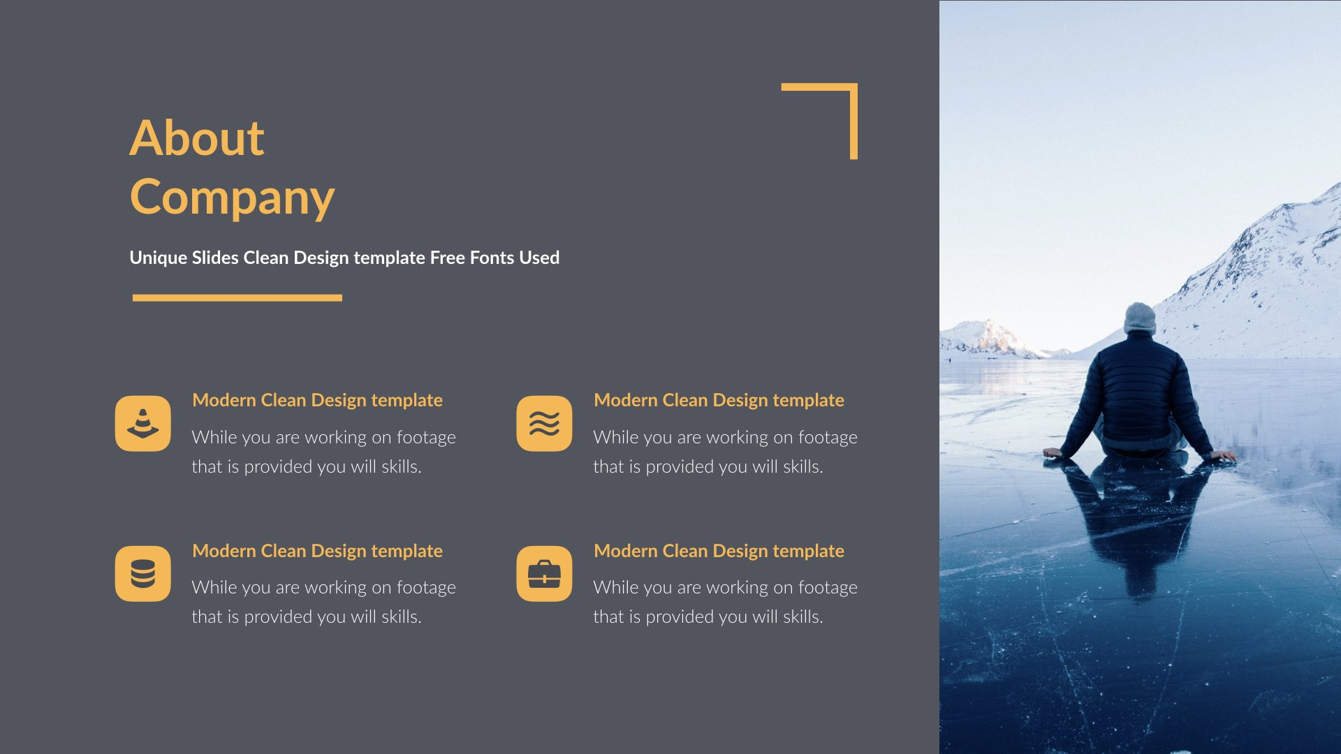 Business - Simple Google Slides Template by 5yue | GraphicRiver