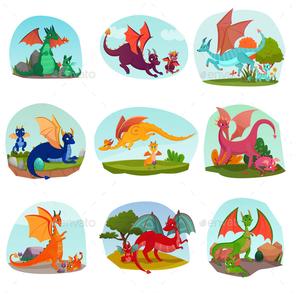 Fairy Dragon Kids Set - Animals Characters