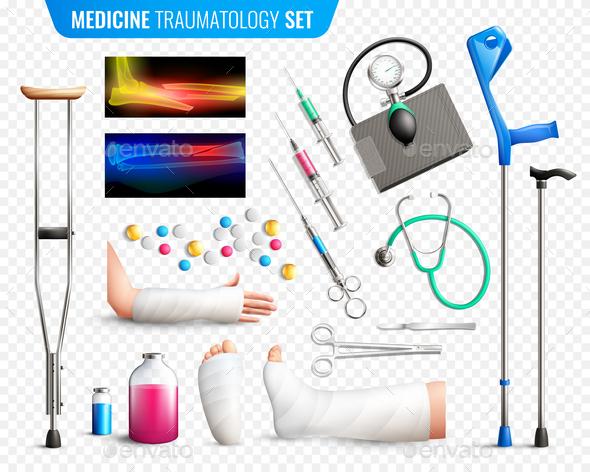 Traumas Medical Tools Set - Backgrounds Decorative