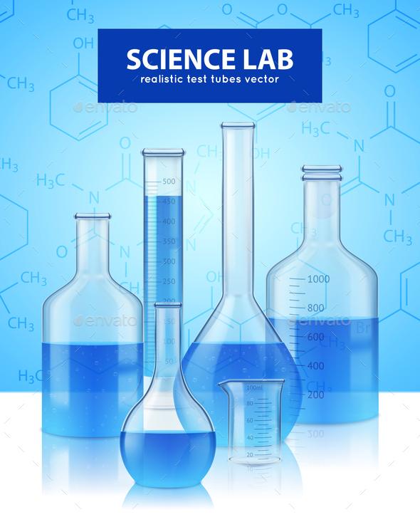 Lab Test-Tubes Realistic - Health/Medicine Conceptual