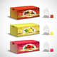 Tea Bags Packaging Realistic Set