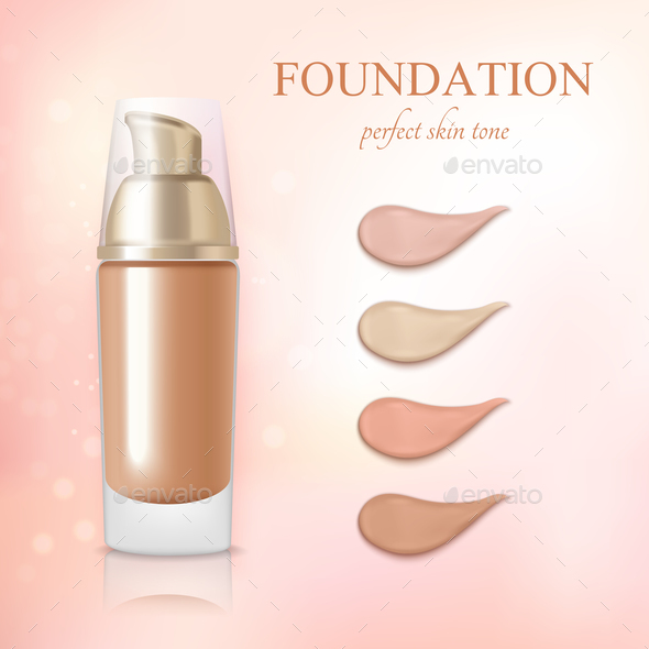 Cosmetic Foundation Concealer Cream Realistic - Backgrounds Decorative