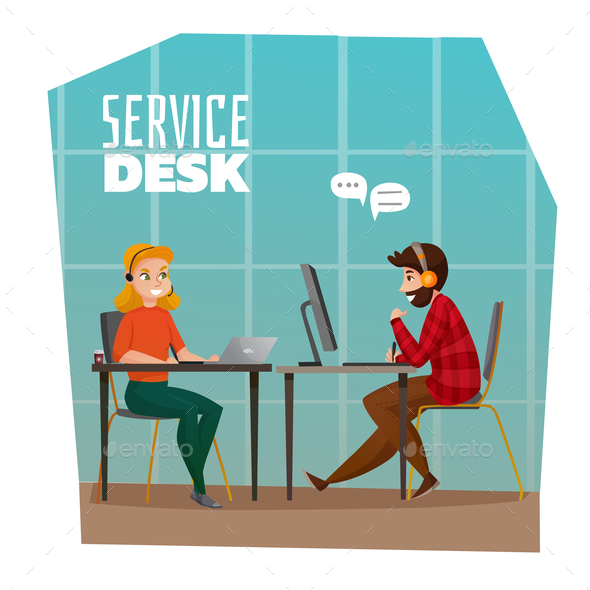 Service Desk Design Concept - People Characters
