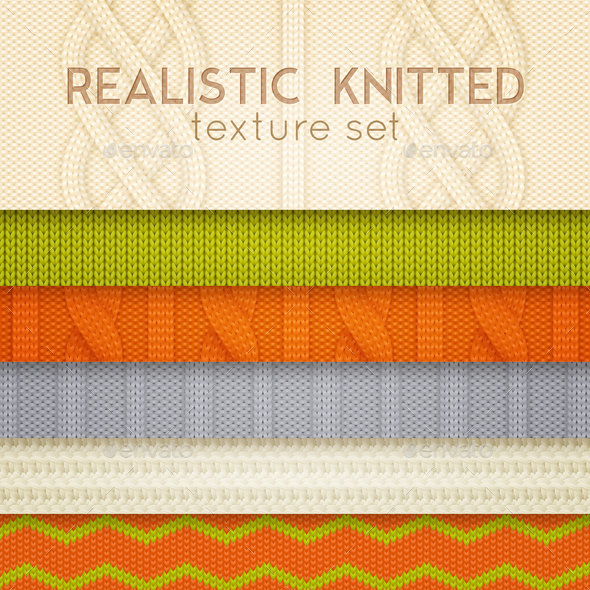 Realistic Knitted Patterns Horizontal Layers - Sports/Activity Conceptual
