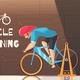 Cycle Racing Training Cartoon Illustration