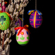 Easter eggs on willow bouquet on black background - PhotoDune Item for Sale