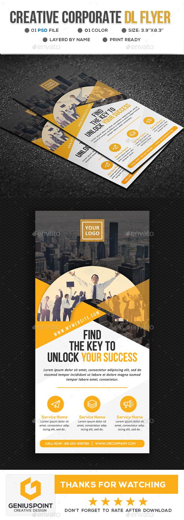 Creative DL Flyer - Corporate Flyers