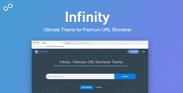 Infinity - Premium URL Shortener Theme nulled free download