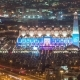 Mosque in the Night Lights of Doha in Qatar - VideoHive Item for Sale