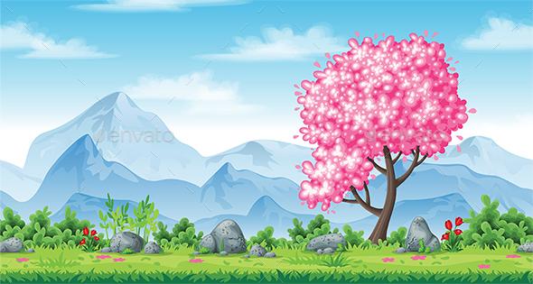 Spring Nature Background - Landscapes Nature