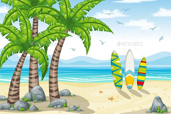 Tropical Coastal Landscape - Travel Conceptual