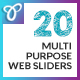 20 Multipurpose Web Sliders - GraphicRiver Item for Sale