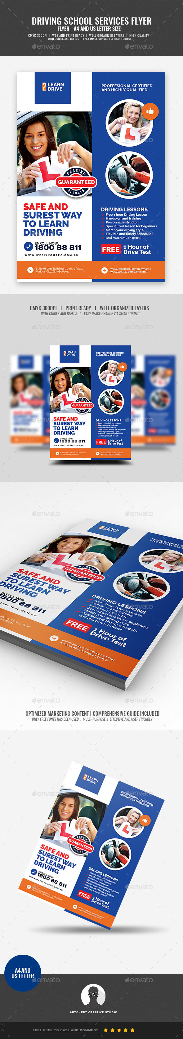 Driving School Promotional Flyer - Corporate Flyers