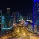 Skycreapers in Night Lights in Doha in Qatar, Middle East - VideoHive Item for Sale