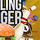 Billiard Bowling Burger Party - GraphicRiver Item for Sale