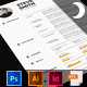 Moon Resume CV Template - GraphicRiver Item for Sale