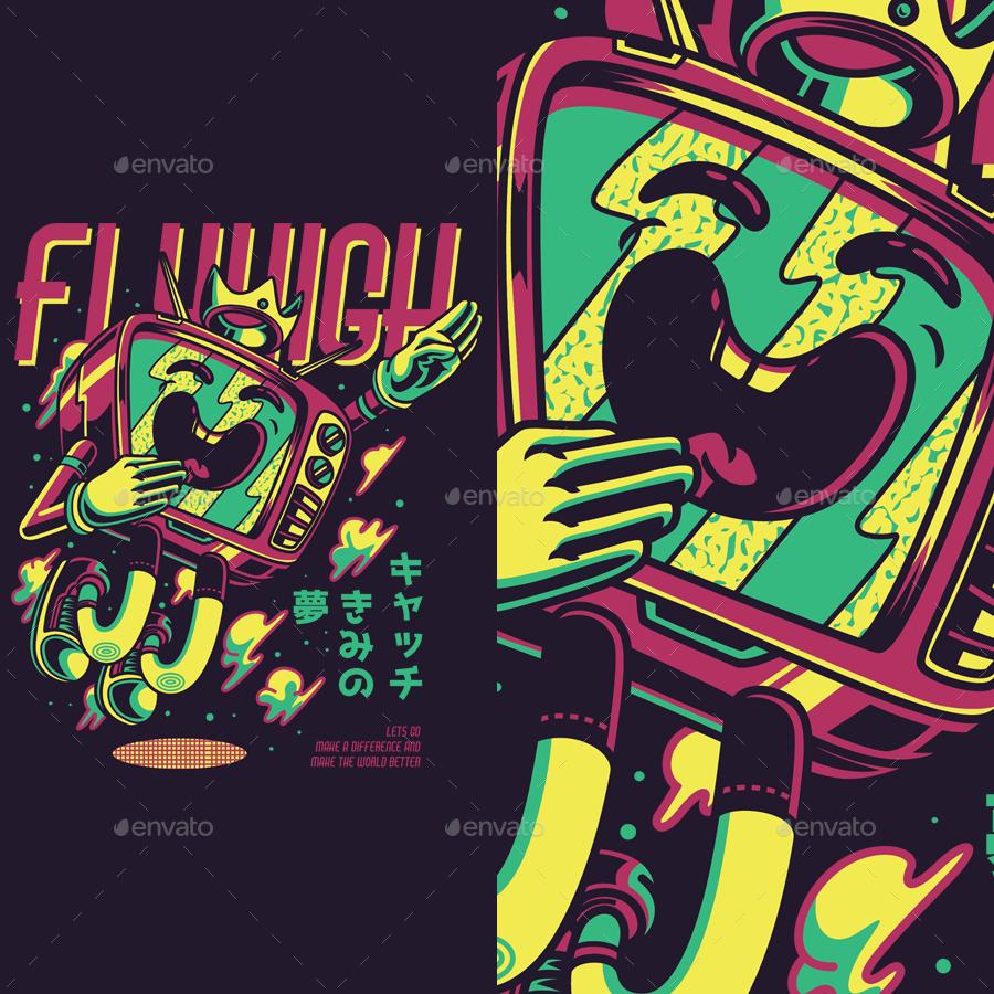 Flyhigh T-Shirt Design