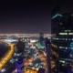 Doha Skyline Video with Night Lights and Skycreapers Downtown in Qatar, Middle East - VideoHive Item for Sale