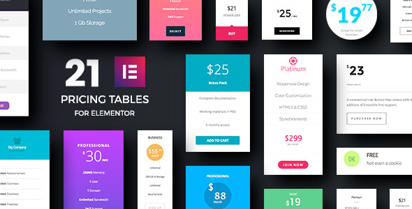 Pricing Tables Addons for Elementor Page Builder