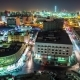 Night Lights of Doha Downtown Streets in Qatar in Middle East - VideoHive Item for Sale