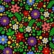 Seamless Floral Pattern on Black Background - GraphicRiver Item for Sale
