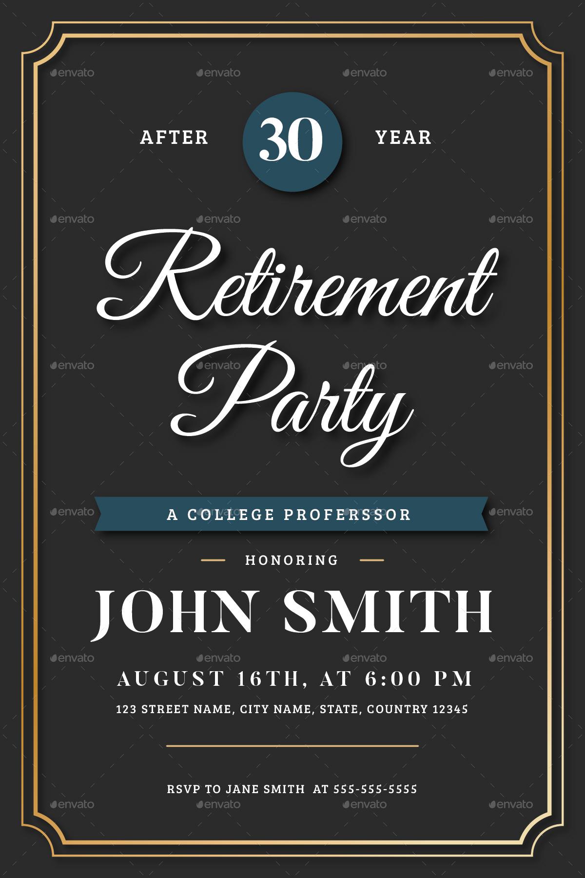 retirement announcement flyer template.html
