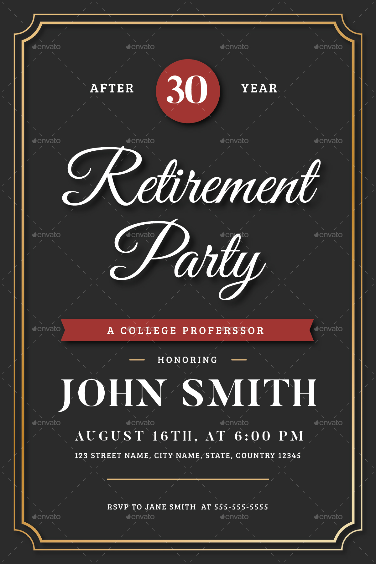 Retirement invitation flyer templates by vynetta for Retirement announcement flyer template