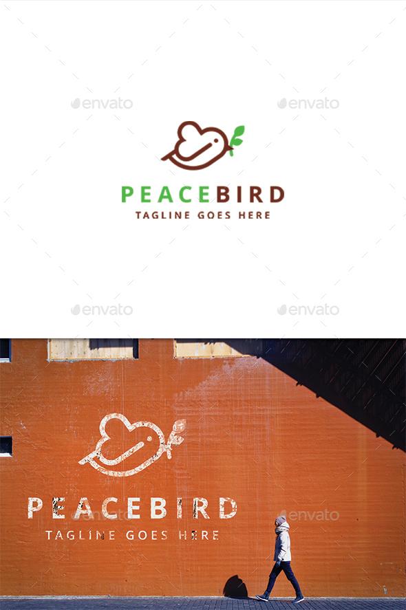 Peace Bird - Animals Logo Templates