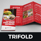 Food Menu Restaurants Trifold Brochure - GraphicRiver Item for Sale