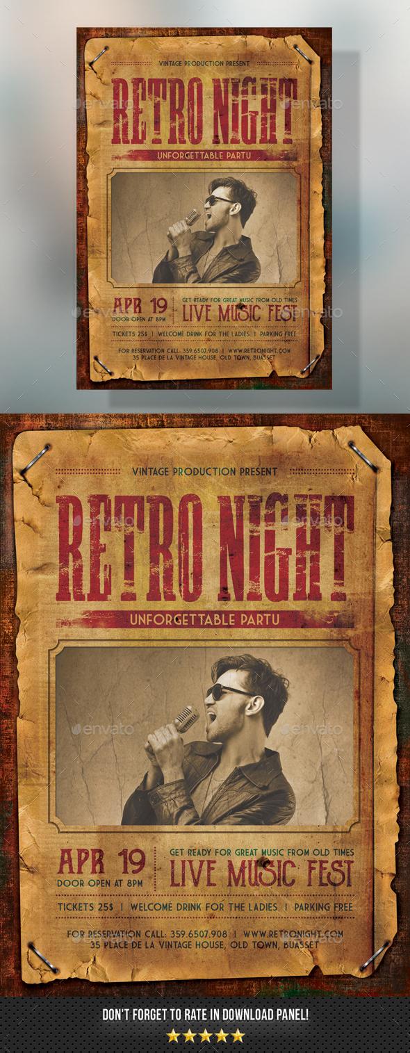 Retro Flyer - Events Flyers