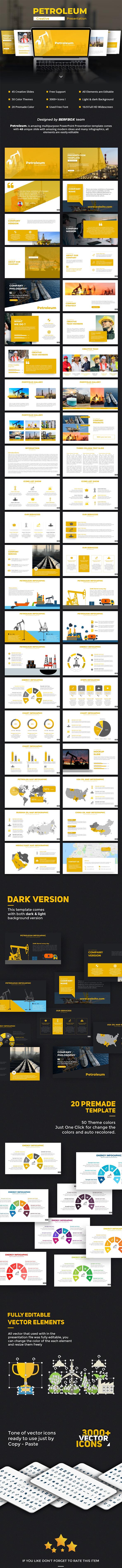 Petroleum PowerPoint Template - PowerPoint Templates Presentation Templates
