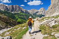 Dolomiti - hiker in Badia Valley - PhotoDune Item for Sale
