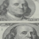 One Hundred Dollar Bills .  Photography of Banknotes. Portrait of Benjamin Franklin. - VideoHive Item for Sale