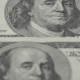 One Hundred Dollar Bills  - 2  Photography of Banknotes Portrait of Benjamin Franklin - VideoHive Item for Sale