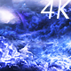 Flying Through Abstract Blue and Violet Clouds to Mysterious Planet and Big Star - VideoHive Item for Sale