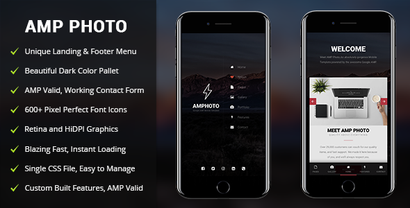 AMP Photo | Mobile Google AMP Template