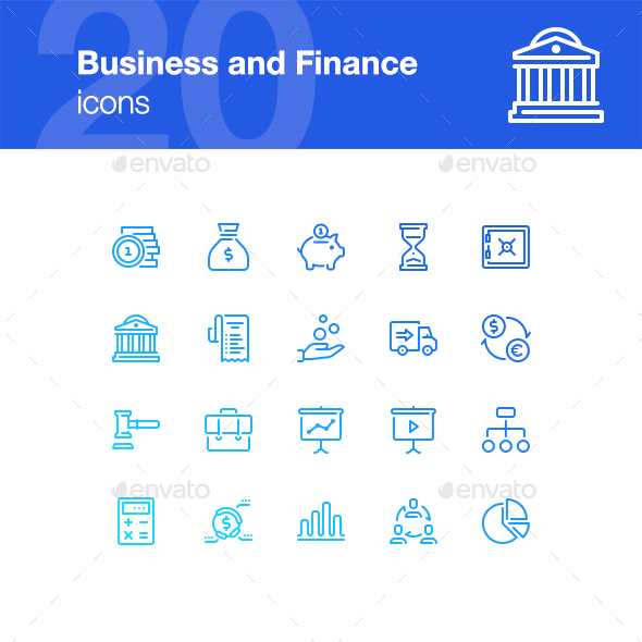 20 Business and Finance Icons - Business Icons
