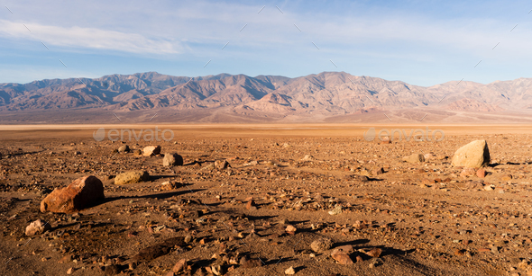 Panamint Range Mountains Death Valley National Park California - Stock Photo - Images