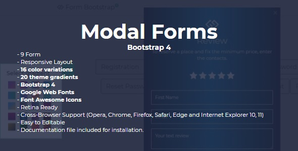 Modal Form Bootstrap 4 - CodeCanyon Item for Sale